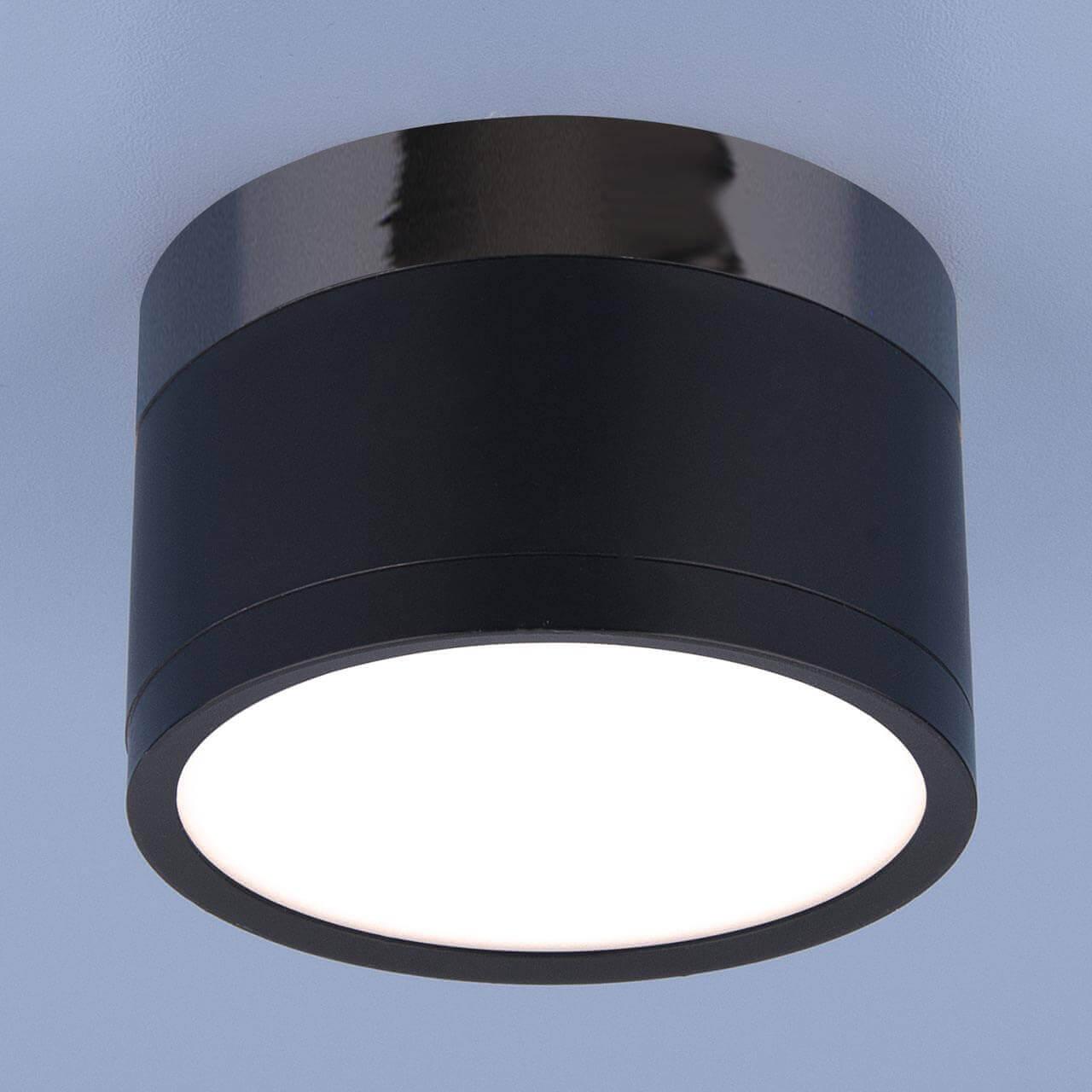 Потолочный светодиодный светильник Elektrostandard DLR029 10W 4200K черный матовый 4690389122019 elektrostandard dss002 10w 4200k