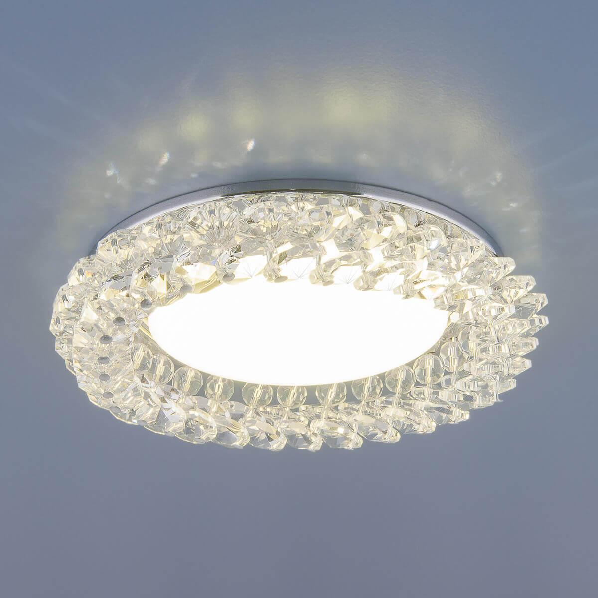 Встраиваемый светильник Elektrostandard 1063 GX53 CH/CL хром/прозрачный 4690389075667