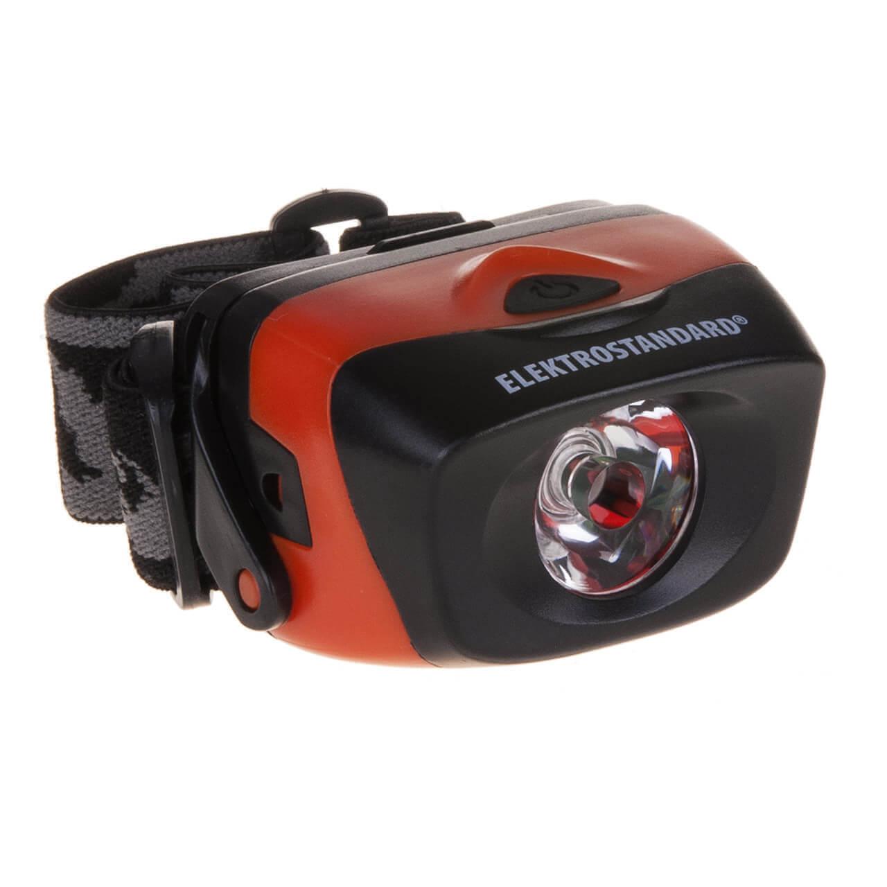 Налобный светодиодный фонарь Elektrostandard Extreme от батареек 39х60 62 лм 4690389087622