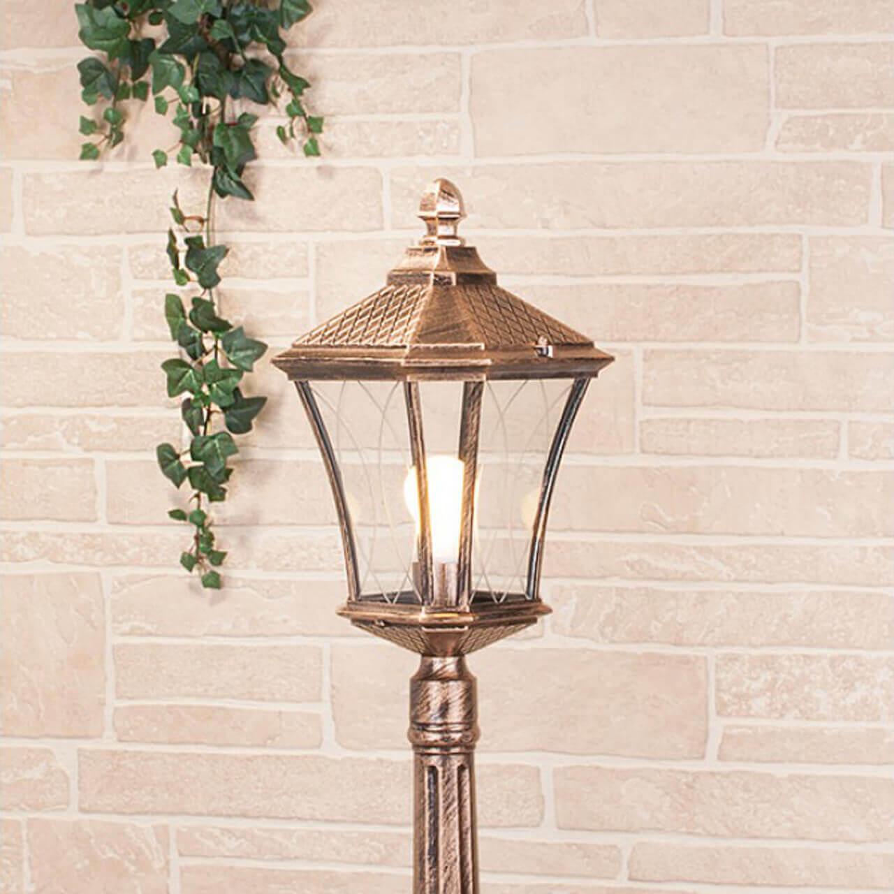 Уличный светильник Elektrostandard Virgo F черное золото 4690389064869 цена