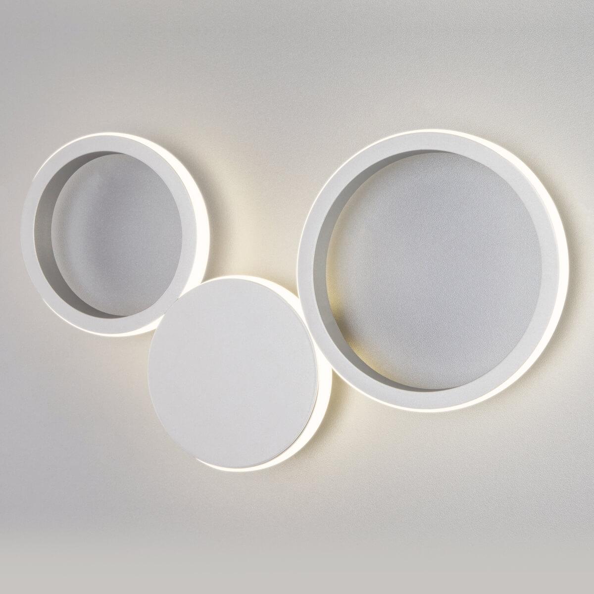 Светильник Eurosvet 40141/1 LED серебро Rings