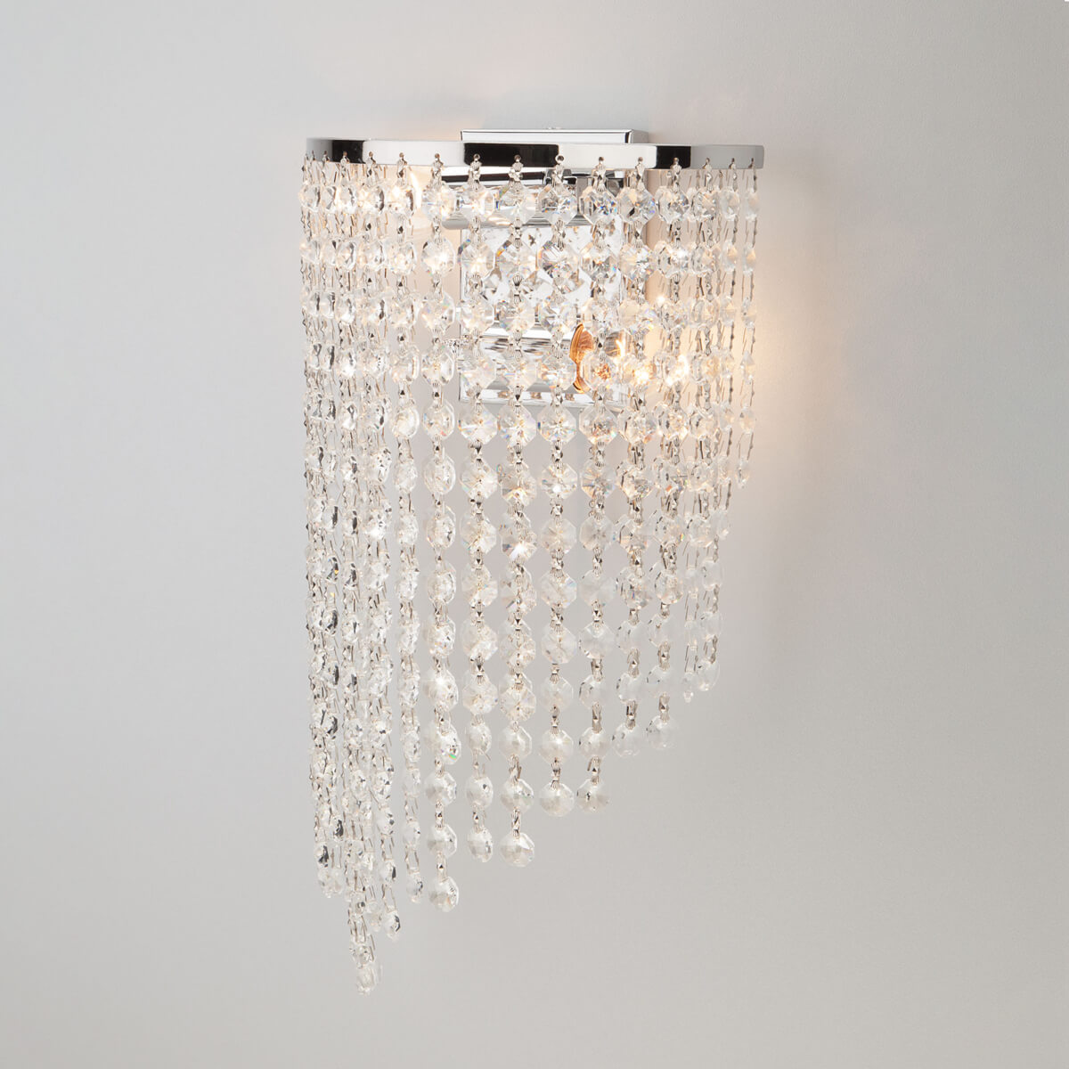 Светильник Eurosvet 3102/2 хром/прозрачный хрусталь Strotskis 3102