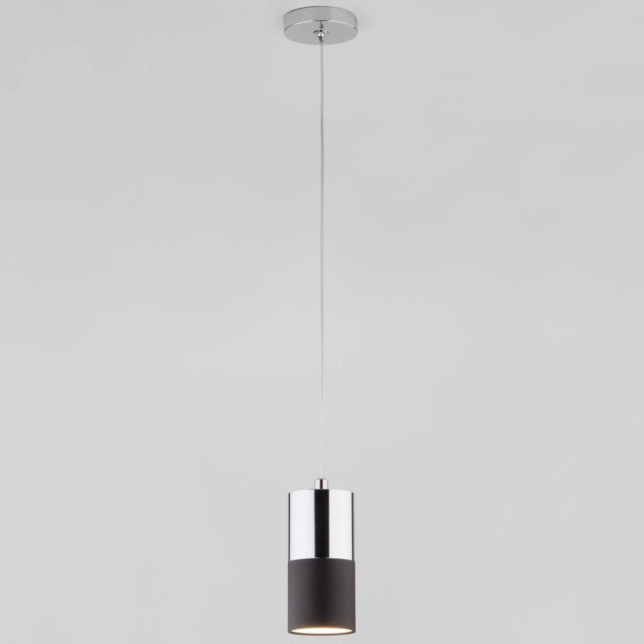 Светильник Eurosvet 50146/1 хром/черный Mini Topper