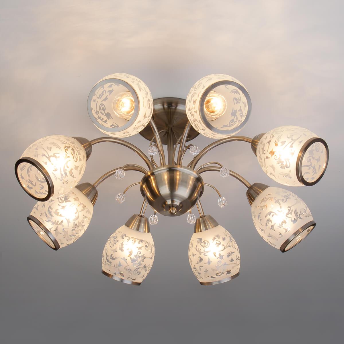 Люстра Eurosvet 30026/8 античная бронза 30026 люстра потолочная eurosvet валери 30026 3 3 лампы 14 м² цвет античная бронза