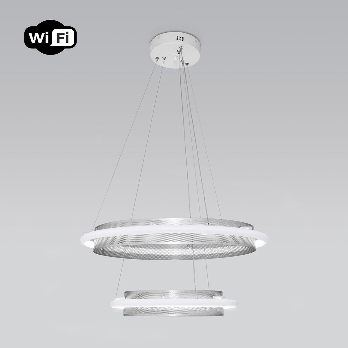 Светильник Eurosvet 90241/2 белый/ серебро Smart Imperio (Умный дом)