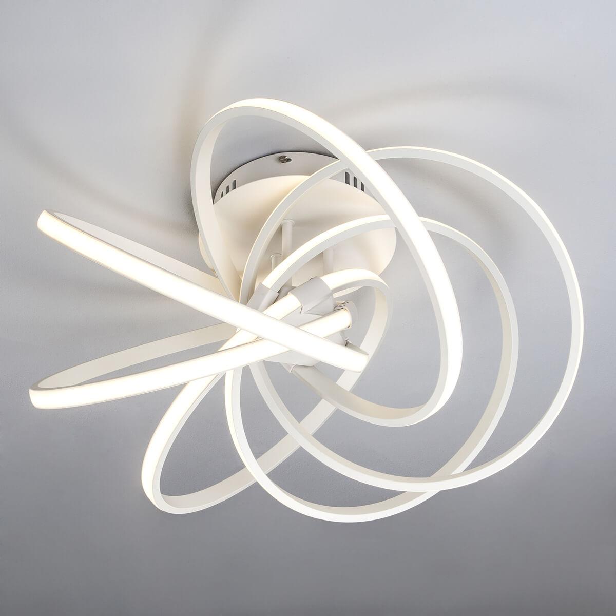 люстра светодиодная eurosvet energy 90044 3 22 м² цвет хром Светильник Eurosvet 90044/6 белый Energy