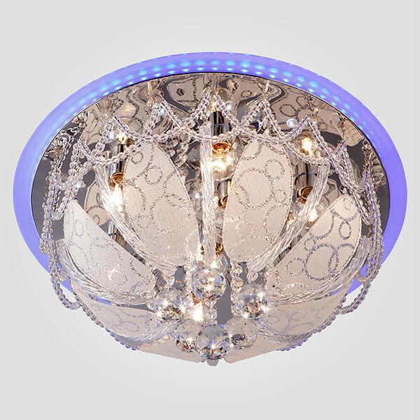 Потолочный светильник Eurosvet Диско 80100/8 хром/голубой