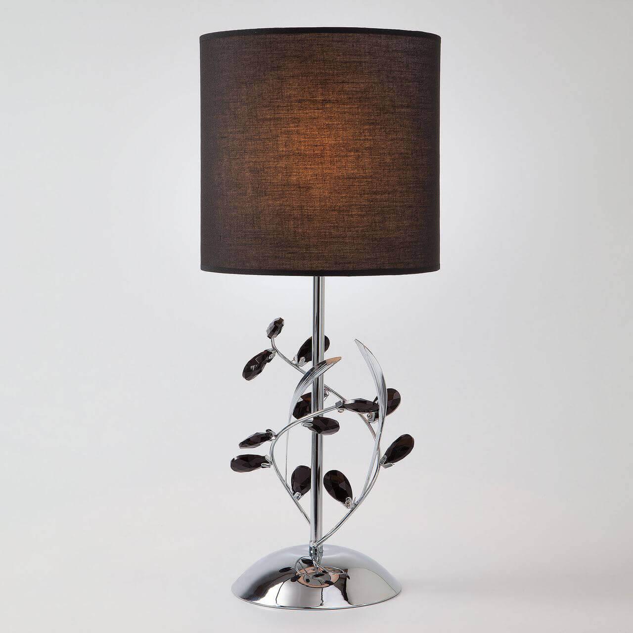 Настольная лампа Eurosvet Florian 01017/1 хром торшер eurosvet florian 01016 1 хром