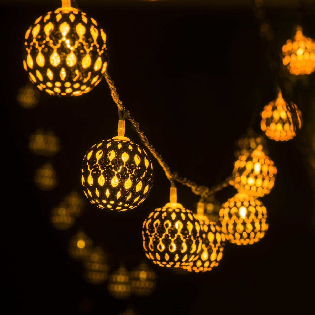 Фото - Гирлянда Eurosvet 400-003 золото/теплый белый с эффектом мерцания 400-003 m153 003