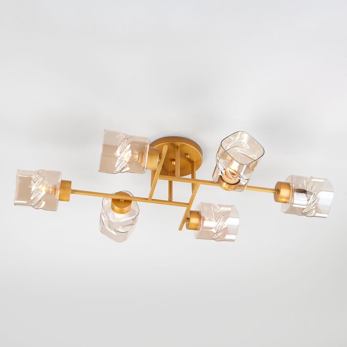 Люстра Eurosvet 30165/6 перламутровое золото Hilari цена 2017