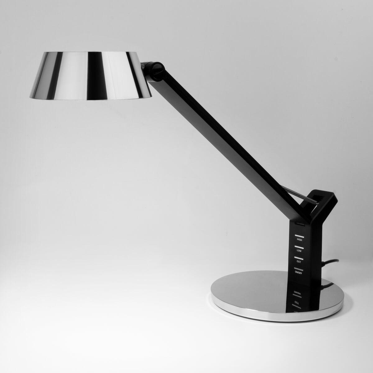 Настольная лампа Eurosvet 80426/1 черный/серебро Slink (Сенсорное управление)