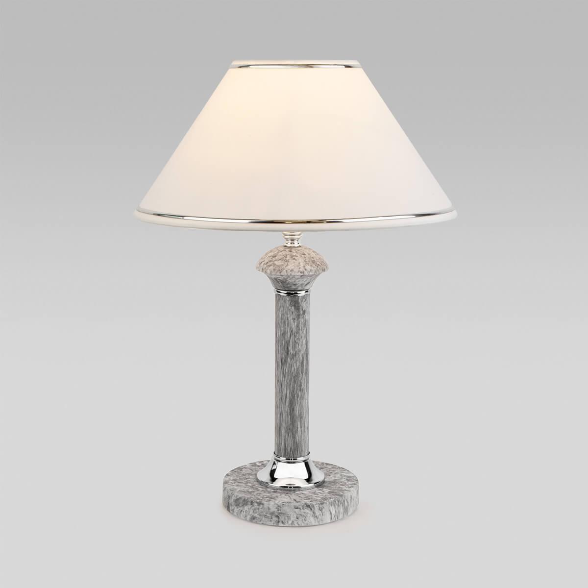 Настольная лампа Eurosvet 60019/1 мрамор Lorenzo настольная лампа eurosvet 60019 1 глянцевый белый 40 вт
