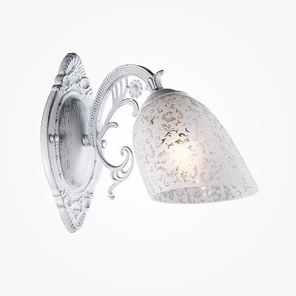 Бра Eurosvet Нимфа 70039/1 белый с серебром недорого