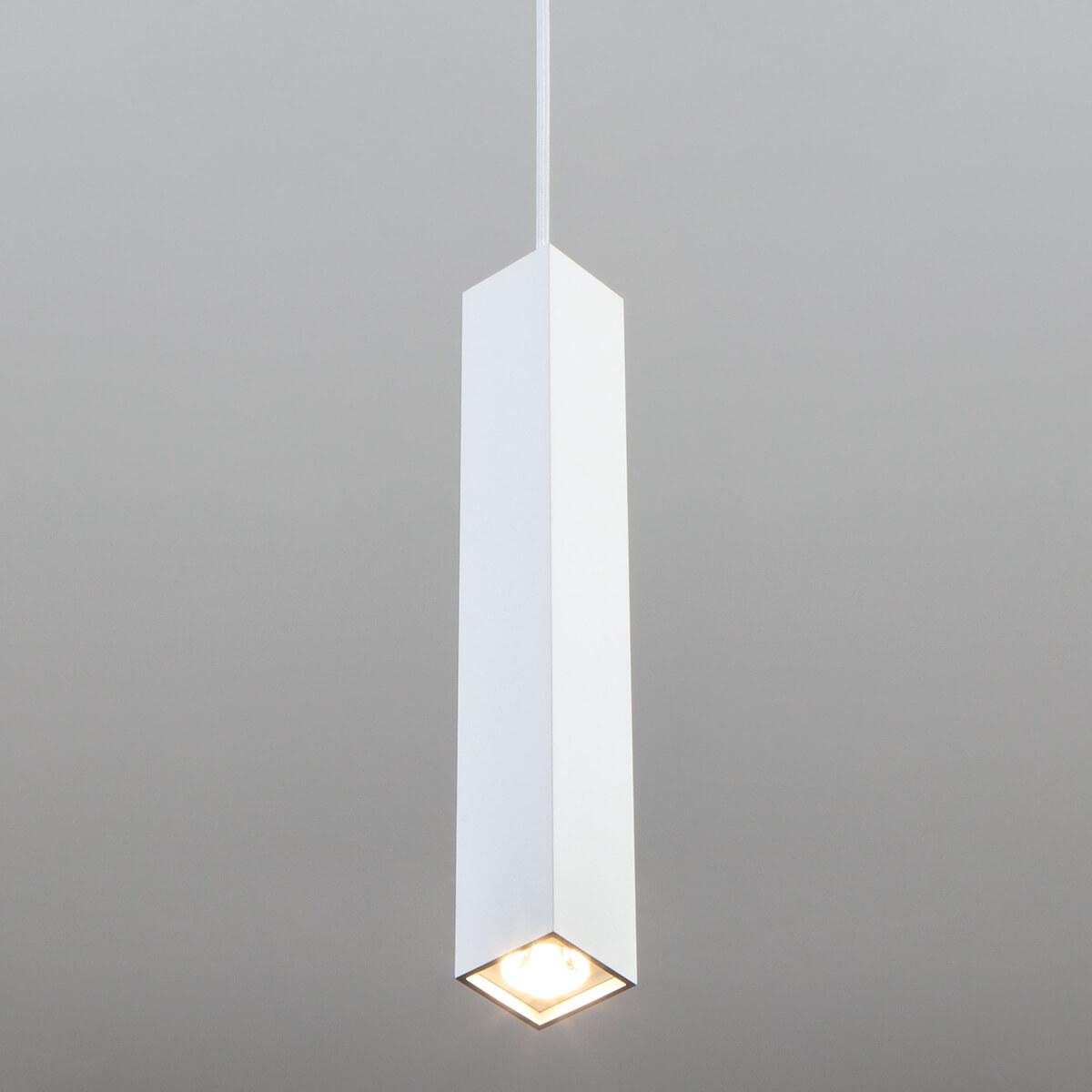 Подвесной светодиодный светильник Eurosvet Cant 50154/1 LED белый подвесной светодиодный светильник eurosvet cant 50154 1 led белый