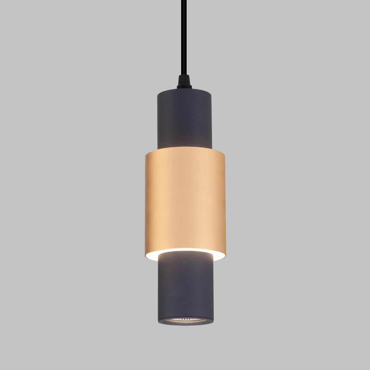 Светильник Eurosvet 50204/1 черный/матовое золото Bento