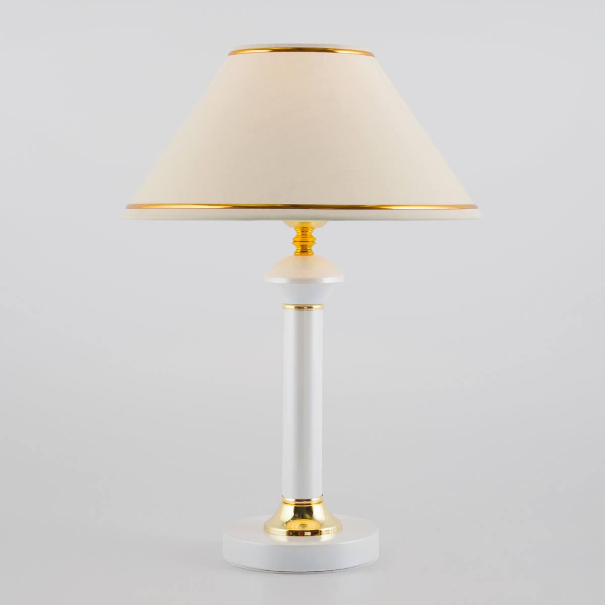 Настольная лампа Eurosvet 60019/1 глянцевый белый Lorenzo настольная лампа eurosvet 60019 1 глянцевый белый 40 вт