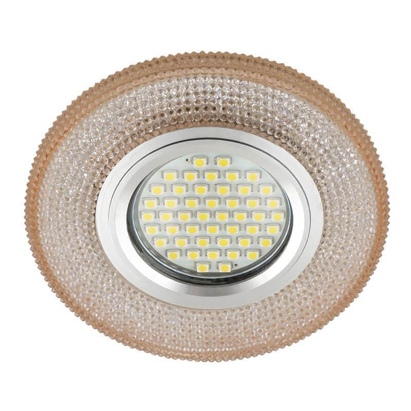Светильник Fametto DLS-L142 Gu5.3 Glassy/Light Tea Luciole 142 светильник fametto dls l127 2001 luciole chrome glass