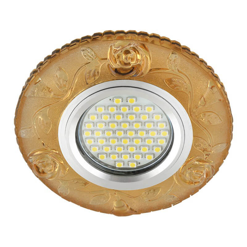 Светильник Fametto DLS-L150 Gu5.3 Glassy/Yellow Luciole 150 светильник fametto dls l127 2001 luciole chrome glass