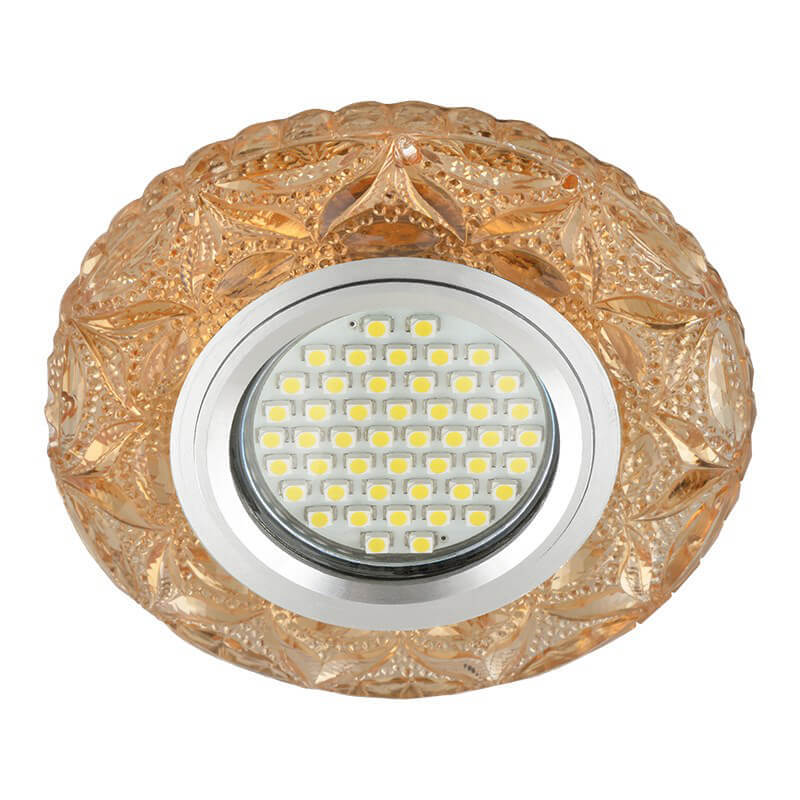 Светильник Fametto DLS-L149 Gu5.3 Glassy/Tea Luciole 149 светильник fametto dls l127 2001 luciole chrome glass