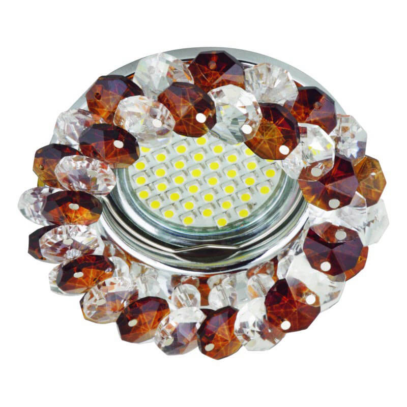 Светильник Fametto DLS-F130 GU5.3 Chrome/Brown Fiore 130 светильник fametto dls l127 2001 luciole chrome glass