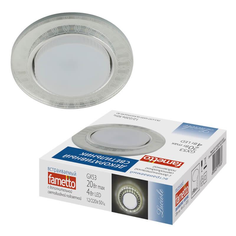 Светильник Fametto DLS-L157 GX53 GLASSY/CLEAR 3D Luciole 157 светильник fametto dls l127 2001 luciole chrome glass