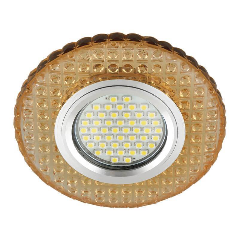 Светильник Fametto DLS-L143 Gu5.3 Glassy/Gold Luciole 143 светильник fametto dls l127 2001 luciole chrome glass