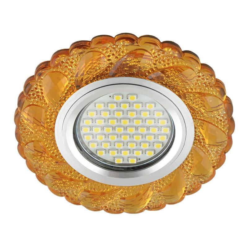 Светильник Fametto DLS-L147 Gu5.3 Glassy/Gold Luciole 147 светильник fametto dls l127 2001 luciole chrome glass