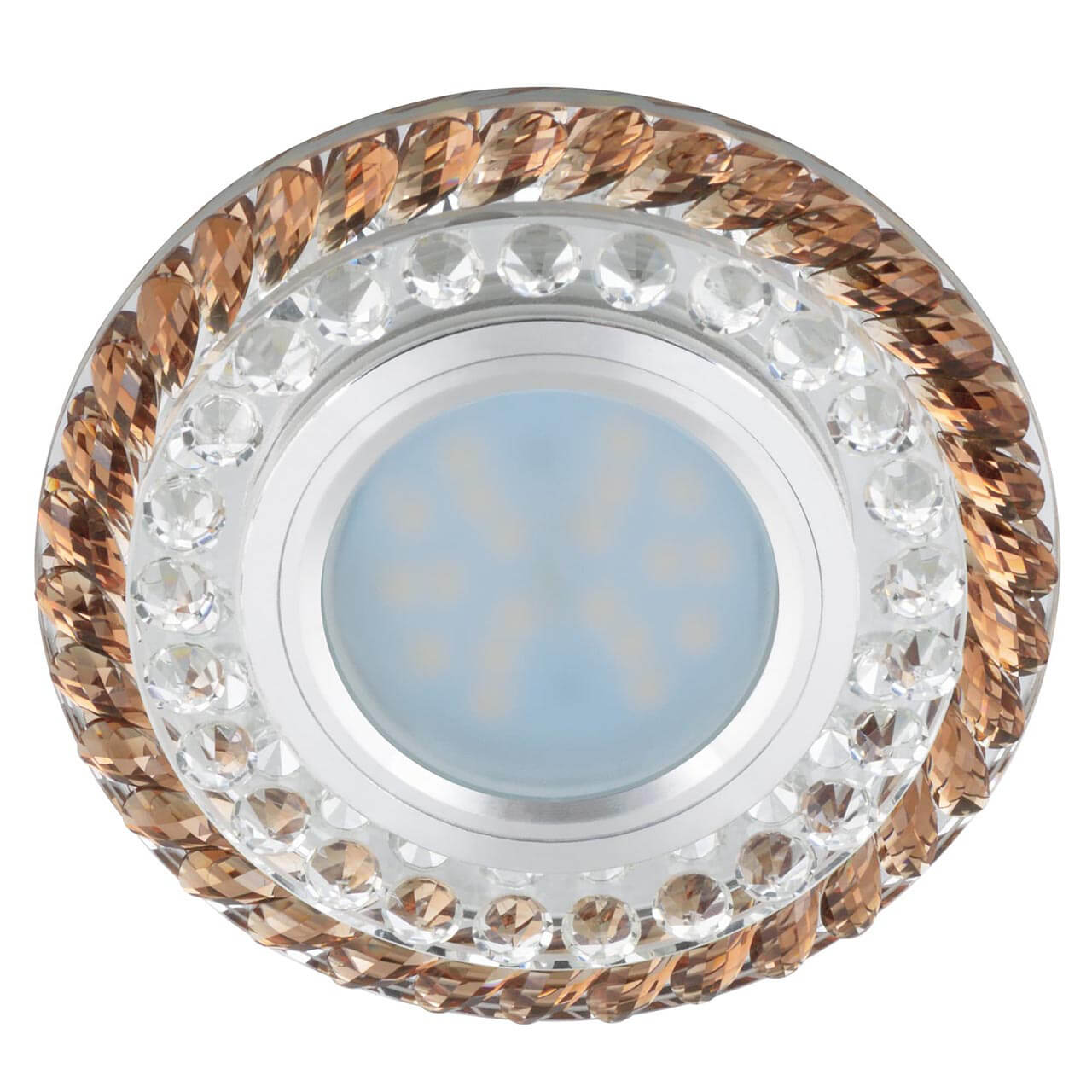 Встраиваемый светильник Fametto Luciole DLS-L132 GU5.3 Chrome/Brown