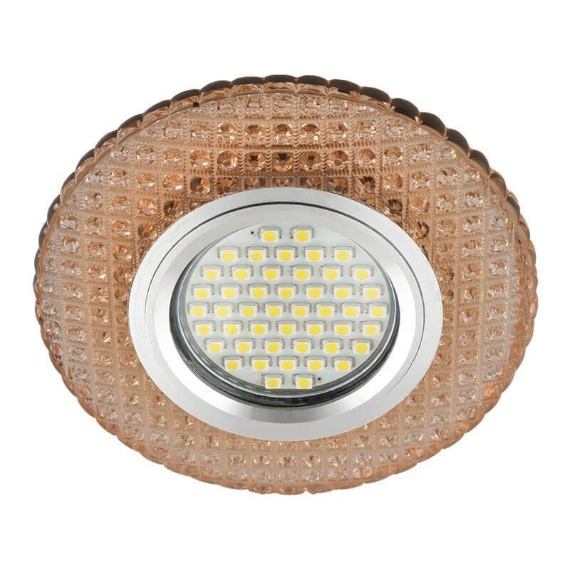 Светильник Fametto DLS-L135 Gu5.3 Glassy/Light Tea Luciole 135 светильник fametto dls l127 2001 luciole chrome glass