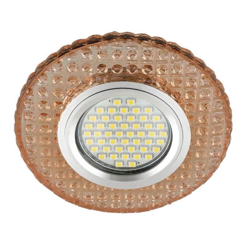 Светильник Fametto DLS-L143 Gu5.3 Glassy/Light Tea Luciole 143 светильник fametto dls l127 2001 luciole chrome glass