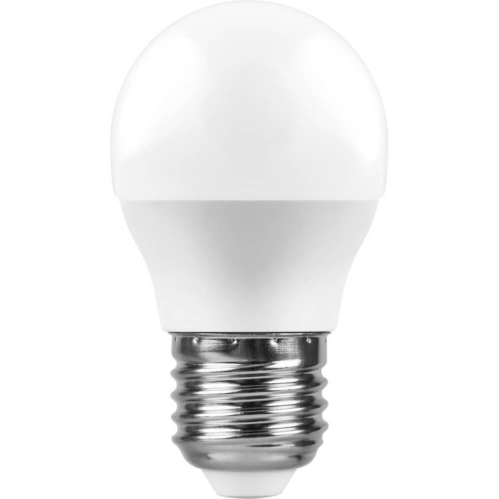 Лампа светодиодная Feron E27 11W 6400K Шар Матовая LB-750 25951