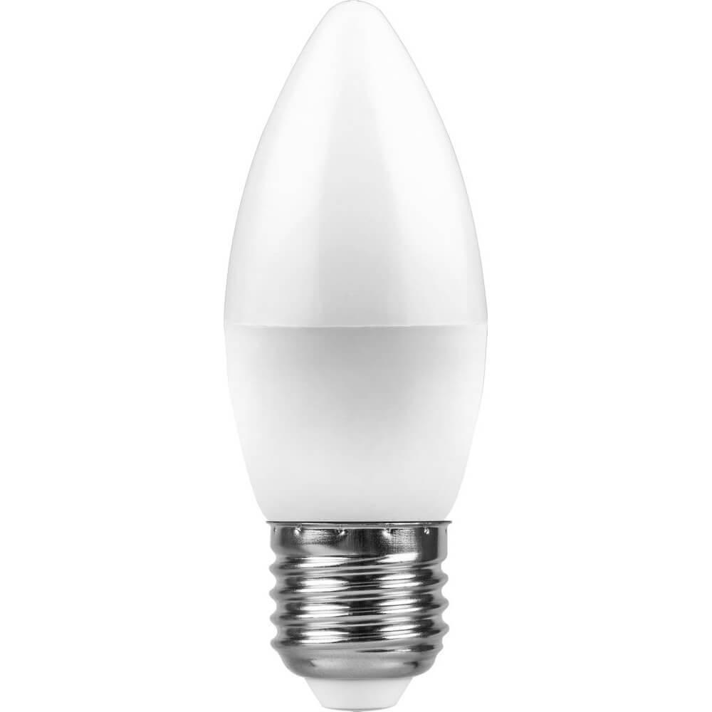 Лампа светодиодная Feron E27 11W 6400K Свеча Матовая LB-770 25945