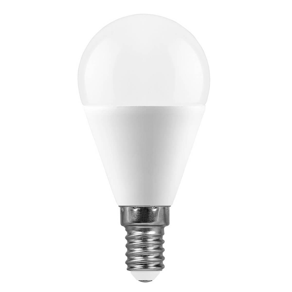 Лампа светодиодная Feron E14 11W 4000K Шар Матовая LB-750 25947