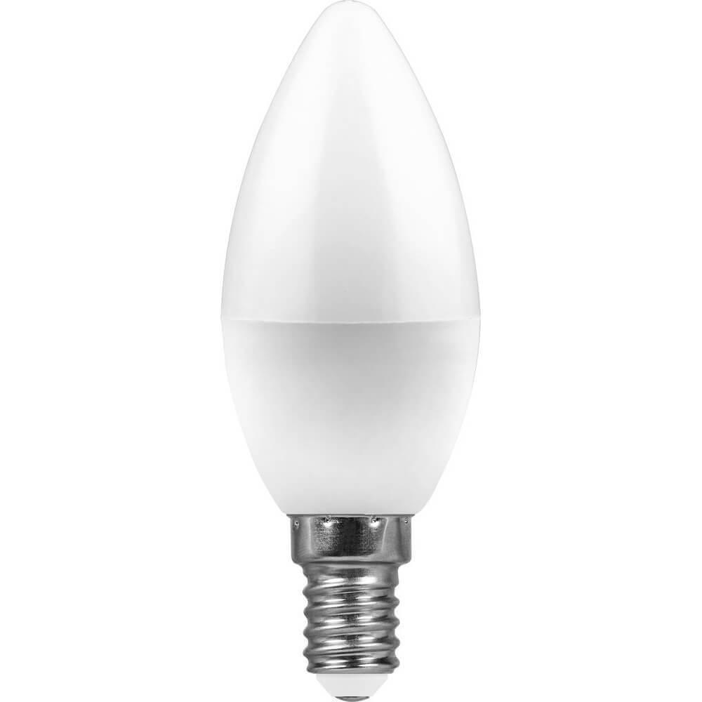 Лампа светодиодная Feron E14 11W 4000K Свеча Матовая LB-770 25942 недорого