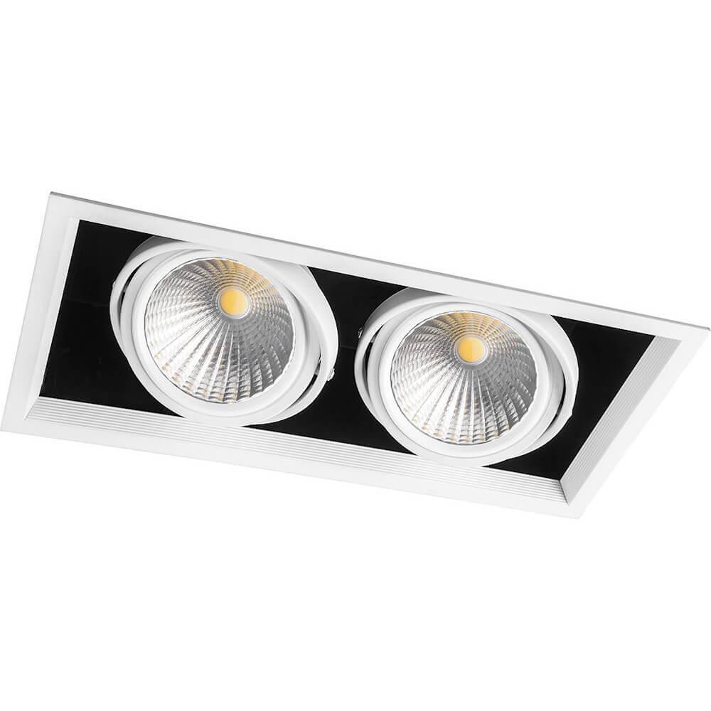 Встраиваемый светодиодный светильник Feron AL212 29780 встраиваемый светильник feron 8150 2 18640