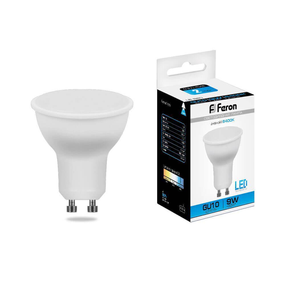 Лампа светодиодная Feron MR16 GU10 9W 6400K Грибок матовая LB-560 25844