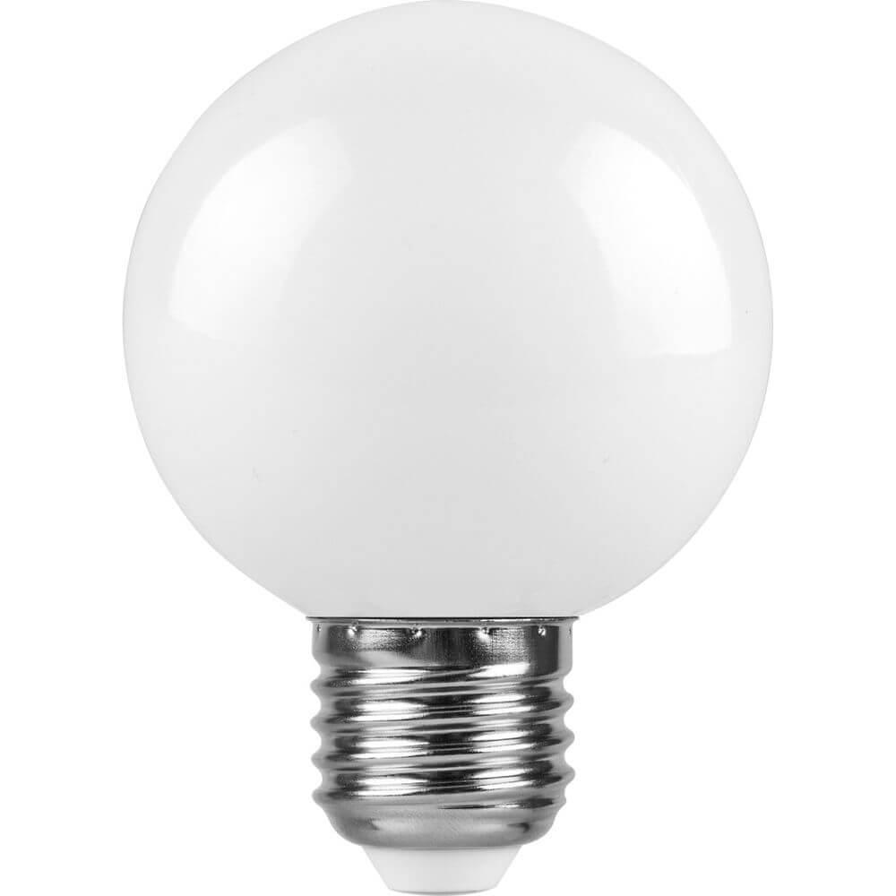 Лампа светодиодная Feron E27 3W 6400K Шар Матовая LB-37125902