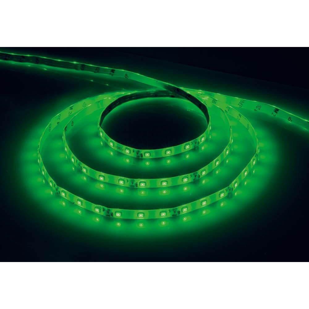 Светодиодная влагозащищенная лента Feron 4,8W/m 60LED/m 2835SMD зеленый 5M LS604 27675