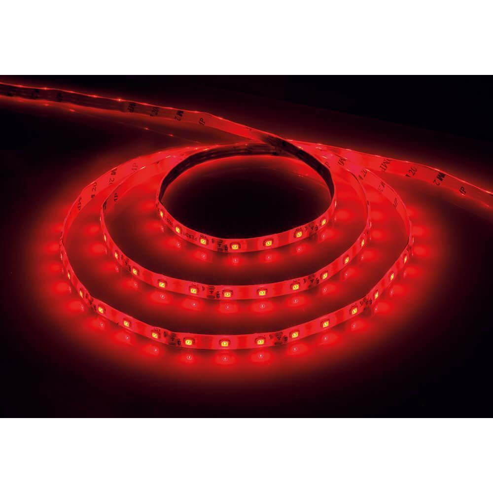 Светодиодная влагозащищенная лента Feron 4,8W/m 60LED/m 2835SMD красный 5M LS604 27676