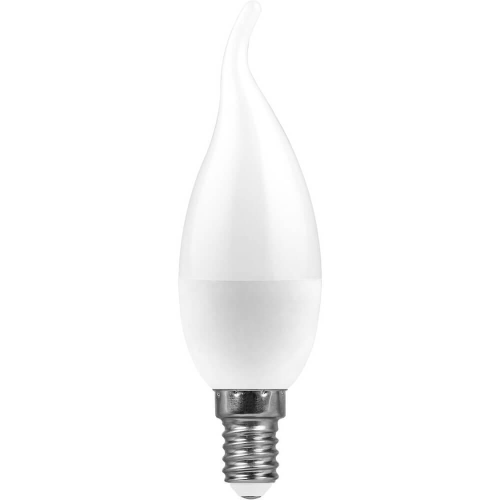 Лампа светодиодная Feron E14 11W 4000K Свеча на ветру Матовая LB-770 25940