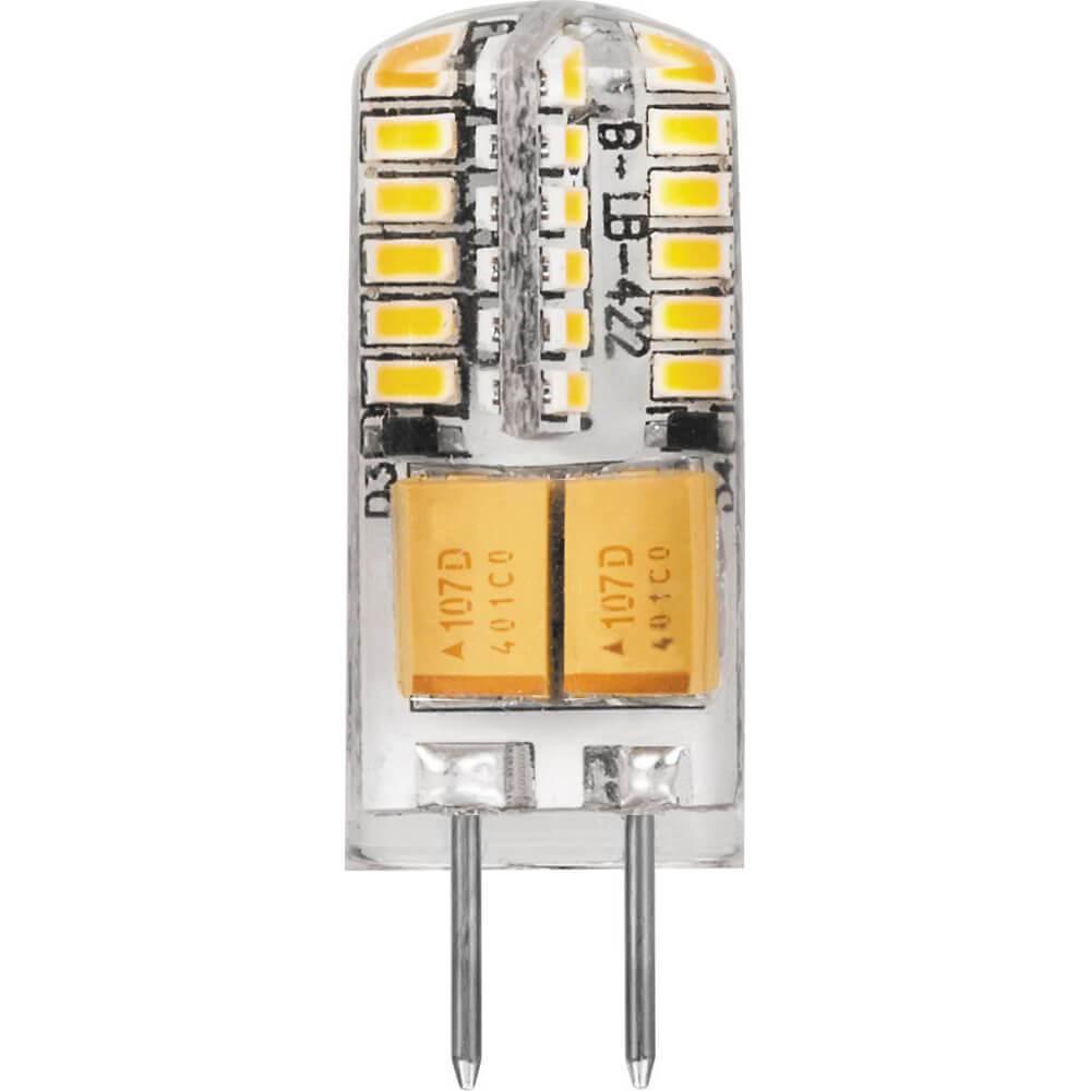 Лампа светодиодная Feron G4 3W 4000K Прямосторонняя Матовая LB-422 G4 3W 4000K 25532 цена