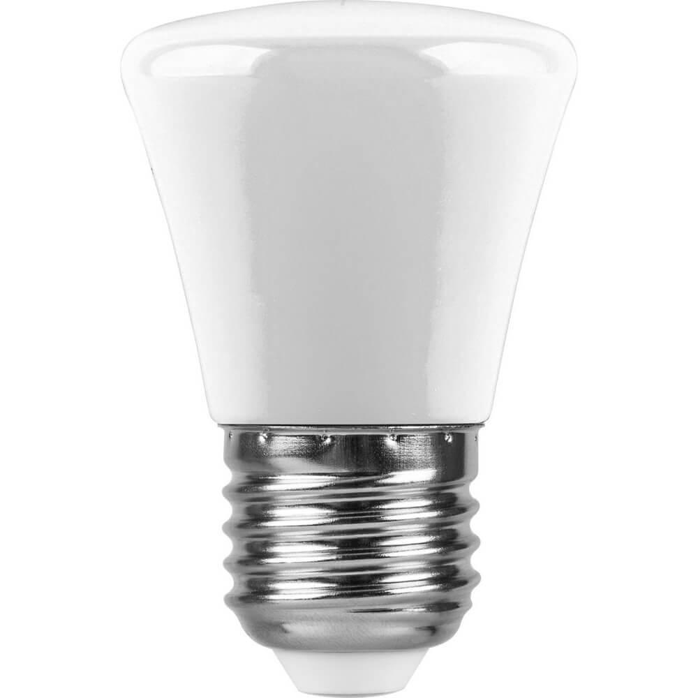 Лампа светодиодная Feron E27 1W 6400K Грибок Матовая LB-372 25910