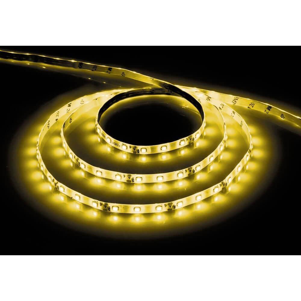Светодиодная влагозащищенная лента Feron 4,8W/m 60LED/m 2835SMD желтый 5M LS604 27674