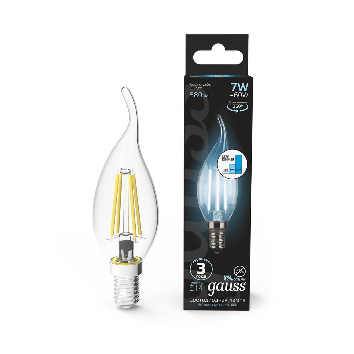 Лампочка Gauss 104801207-S Filament Candle (Пошаговое диммирование)