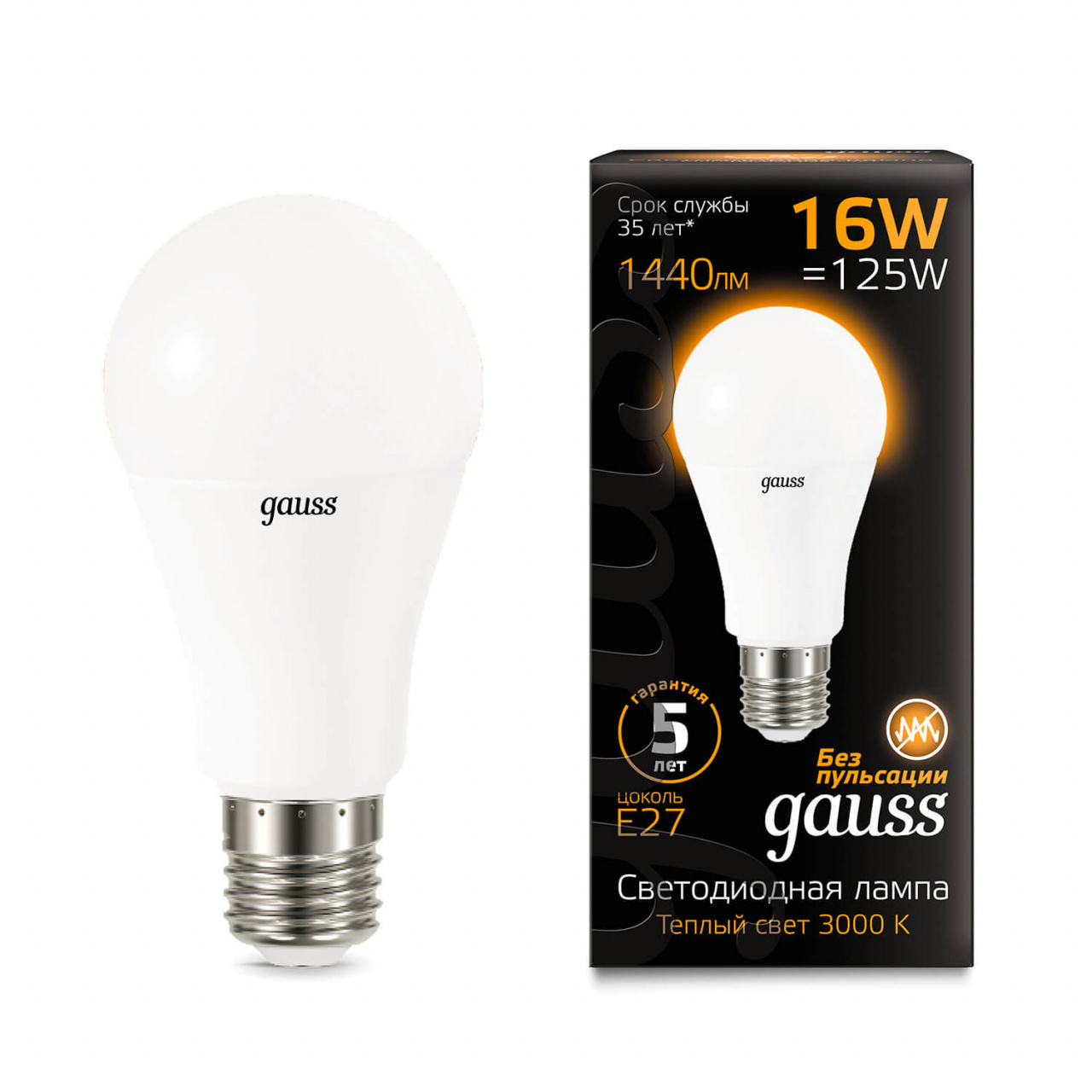 Лампочка Gauss 102502116 LED A60 лампочка gauss 23227a elementary a60 led