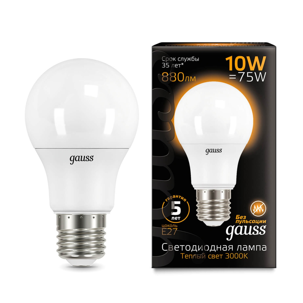 Лампочка Gauss 102502110 LED A60 лампочка gauss 23227a elementary a60 led