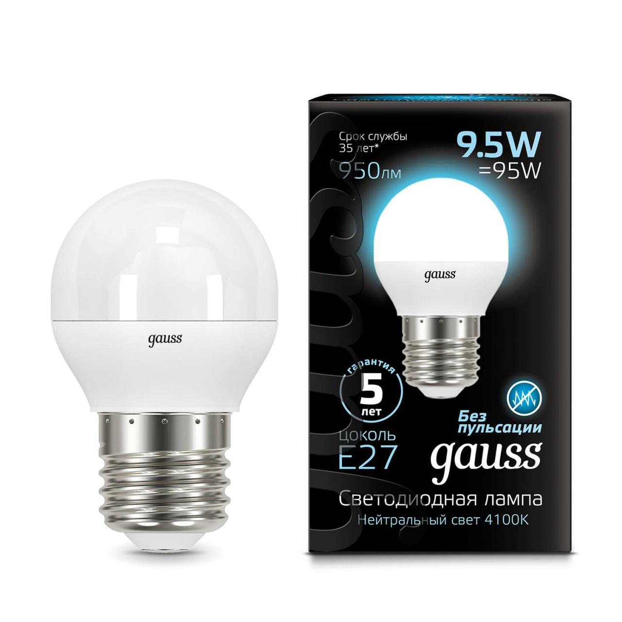 Лампочка Gauss 105102210 LED Globe лампочка gauss led globe e14 9 5w 4100k 105101210