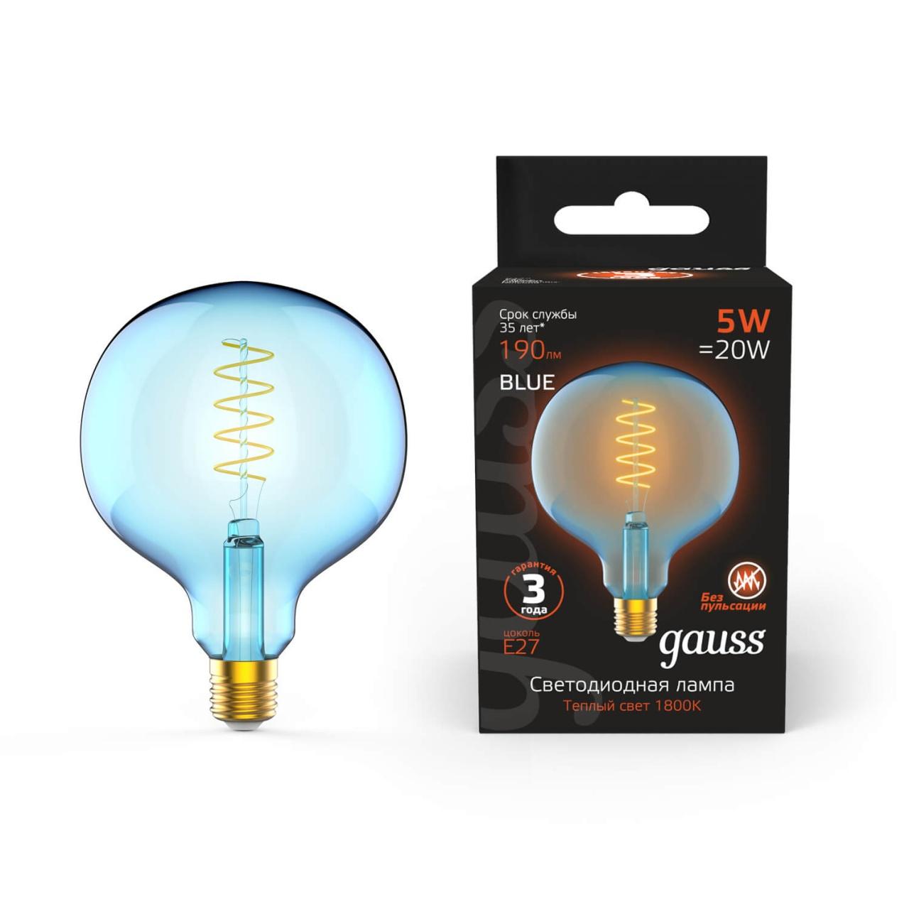 Лампочка Gauss 1013802105 Colored (Диммирование) лампочка gauss 1009802105 colored
