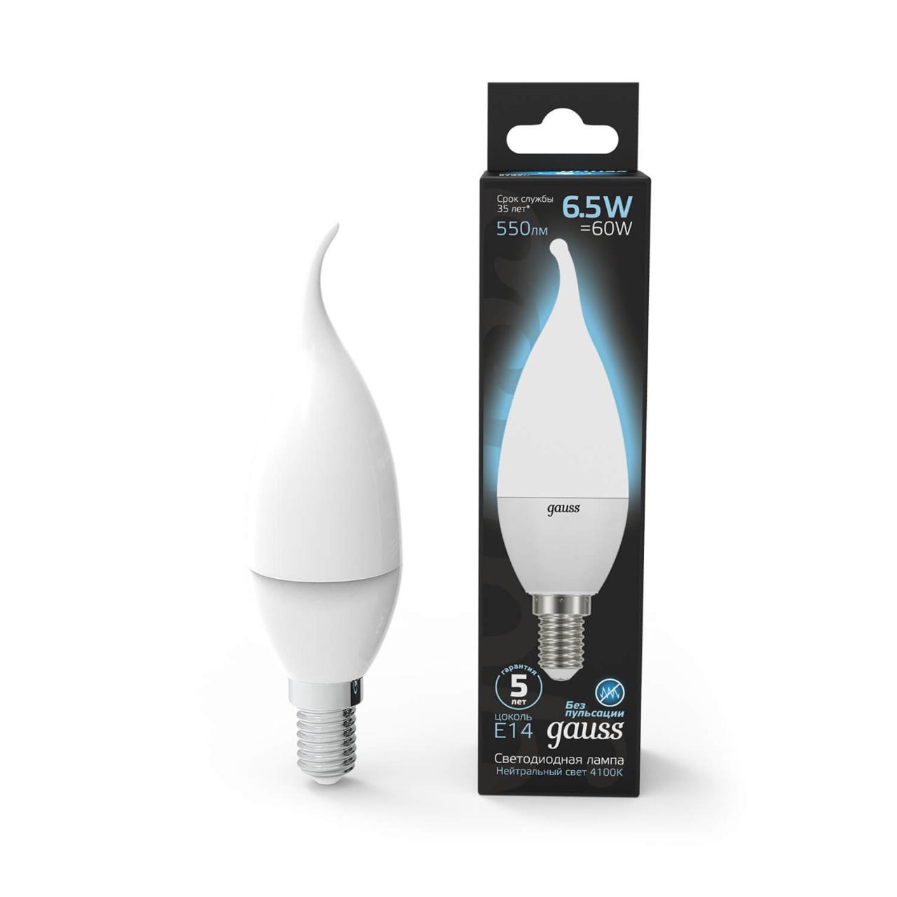 Лампочка Gauss 104101207 Candle LED