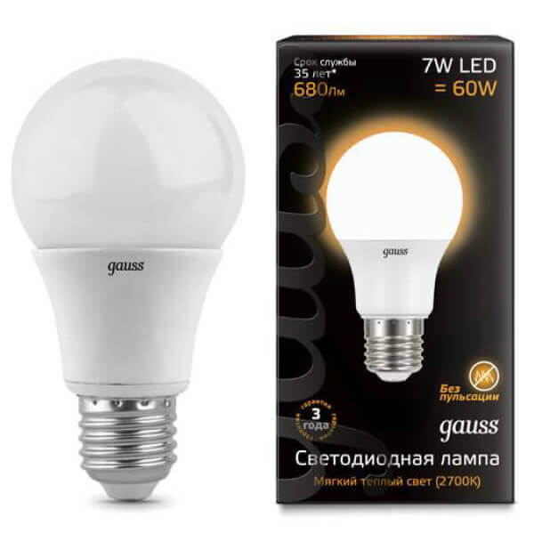 Лампочка Gauss 102502107 LED A60 лампочка gauss 23227a elementary a60 led